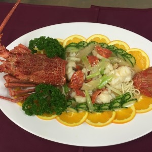 lobsterwithgingerandspringonion